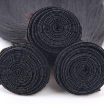 7A Unprocessed Straight Virgin Hair Human Hair Extensions 3Bundles Peruvian Hair