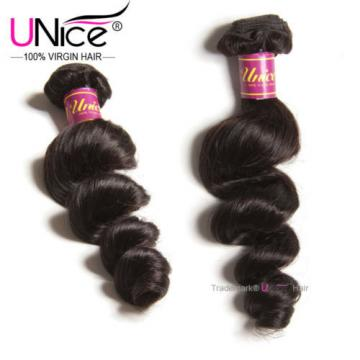 100g Peruvian Loose Wave Human Hair Bundles 100% UNice Virgin Hair Weft US STock