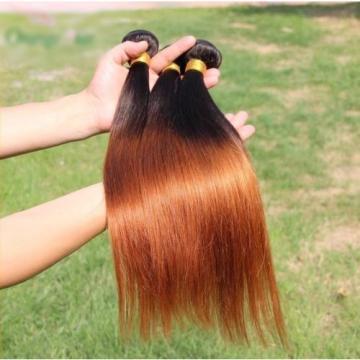 Luxury Silky Straight Peruvian Auburn #30 Ombre Virgin Human Hair Extensions