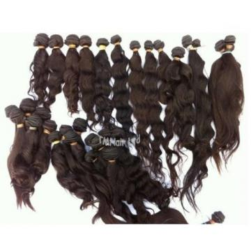 100% REAL BRAZILIAN/PERUVIAN Virgin Human Remy Natural Weft Hair Extensions
