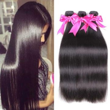 Peruvian Virgin Straight Hair Weave 3 Bundles Unprocessed Silky Straight Human 8