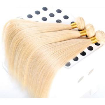 Luxury Silky Straight Bleach Blonde #613 Peruvian Virgin Human Hair Extensions