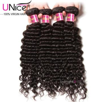 Peruvian Deep Wave Human Hair 4 Bundles/400g UNice Curly Virgin Hair Extensions
