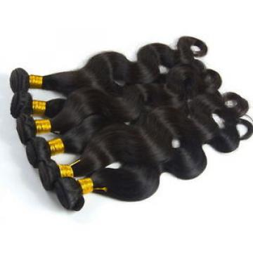 Luxury Body Wave Peruvian Wavy Virgin Human Hair Extensions 7A Weave Weft