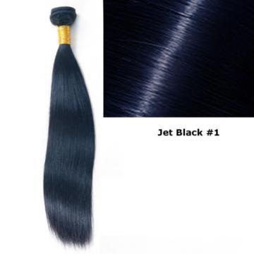 1bundle-100g STRAIGHT Unprocessed Real human hair Indian Brazilian Malay Peru 7A