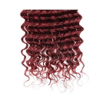 Luxury Deep Wave Peruvian Burgundy Red #99J Wavy Virgin Human Hair Extensions