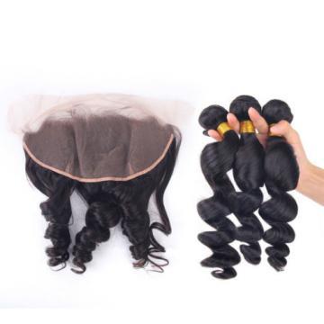 Cheap Human Hair Weave 3Bundles With 13x4 Lace Frontal 100% Virgin Peruvian Hair