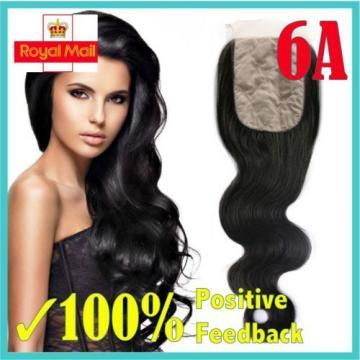 3 Way / Freestyle Silk Base Closure 6A Brazilian/Peruvian Virgin Remy Human Hair