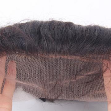Virgin Peruvian Hair Body Wave 13x4 Ear to Ear Frontal Closure Bleached Knots 7A