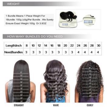 US STOCK 300g 3 Bundles 100% Peruvian Unprocessed Virgin Human Hair Extensions