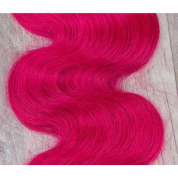 Luxury Peruvian Hot Pink Dark Root Ombre Body Wave Virgin Human Hair Extensions
