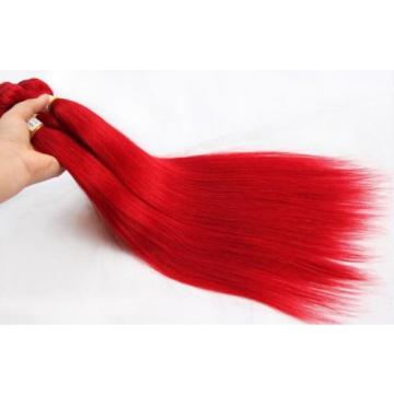 Luxury Peruvian Silky Straight Hot Red Virgin Human Hair Extensions Weave Weft