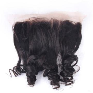 7A Free Part 13x4 Virgin Hair Peruvian Loose Wave Frontal Closure Ear to Ear