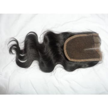 7A Peruvian Middle Parting Body Wave Virgin 4x4 Lace Closure 100% Human hair