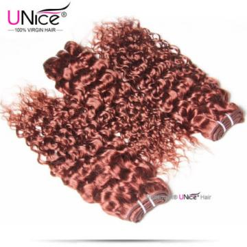 Peruvian Curly Human Hair 3 Bundles 2#4#33#99J# UNice 8A Virgin Hair Extensions