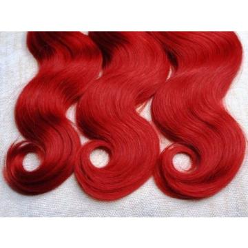 Luxury Body Wave Peruvian Hot Red Virgin Human Hair Weave Weft Extensions
