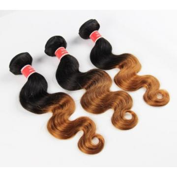 Luxury Body Wave Peruvian Auburn #30 Ombre Virgin Human Hair Extensions