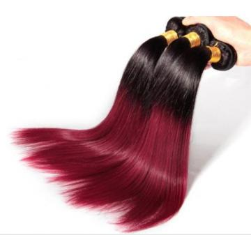 Luxury Straight Peruvian Burgundy Red Ombre #99J Virgin Human Hair Extensions