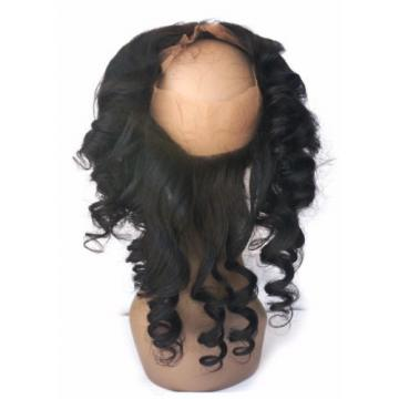 360 Lace Frontal Closure with 2Bundles Peruvian Virgin Human Hair Loose Wave