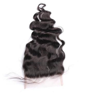 300g/3bundles virgin peruvian loose wave human hair & 4X4 lace closure 350g