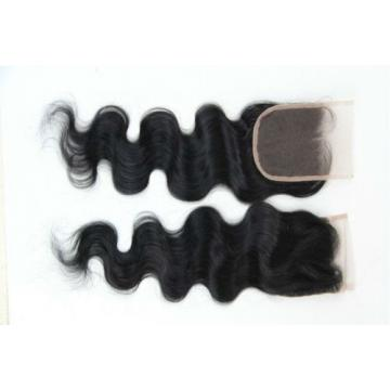 "100% Virgin unprocessed Peruvian Human hair Top Lace closure  4""*4"" free part 7A"
