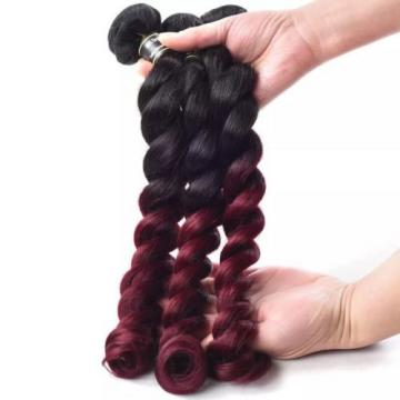 Luxury Loose Wave Peruvian Burgundy Red #99J Ombre Virgin Human Hair Extensions
