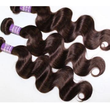 Luxury Body Wave Dark Brown #2 Peruvian Virgin Human Hair Extensions
