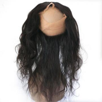 Free Part Peruvian Virgin Hair 360 Lace Frontal Closure with 2Bundles Body Wave
