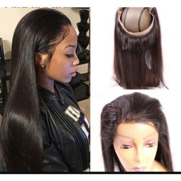 """NEW!! 360 LACE FRONTAL 18"""" & 20"""" AVAILABLE VIRGIN PERUVIAN HAIR 7A GRADE"""