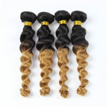 Luxury Loose Wave Peruvian Blonde #27 Ombre Virgin Human Hair Extensions Weave