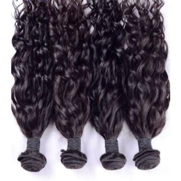 Luxury Natural Water Wave Peruvian Wavy Virgin Human Hair Extensions 7A Weave