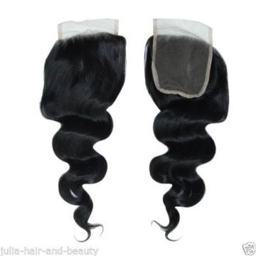 BRAZILIAN PERUVIAN LACE CLOSURE VIRGIN REMY HUMAN HAIR 3 PART Closure 4x4