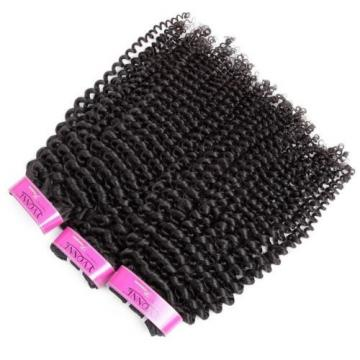 Luxury Kinky Curly Peruvian Virgin Human Hair Extensions 7A Weave Weft
