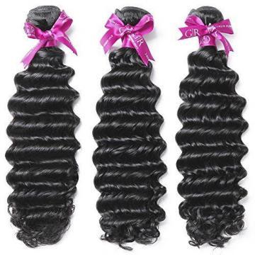 GoldRose Beauty Grade 6A 100% Unprocessed Peruvian Virgin Human Hair Deep Wave 1