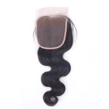 7A High Quality Peruvian Virgin Hair Free Part 4x4 Body Wave Lace Closure