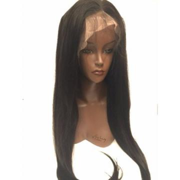 24 inch Peruvian Glueless Virgin Hair Straight Wig