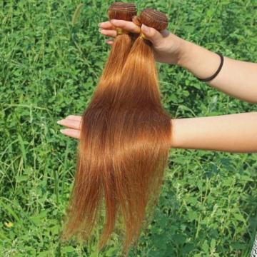 Luxury Silky Straight Peruvian Auburn #30 Virgin Human Hair Extensions 7A Weave