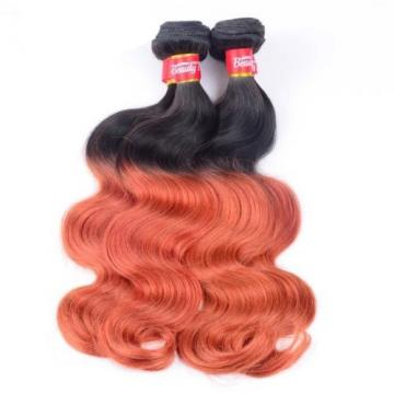 Luxury Body Wave Orange Red #350 Ombre Peruvian Virgin Human Hair Extensions