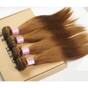 Luxury Silky Straight Peruvian Light Brown #8 Virgin Human 7A Hair Extensions