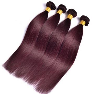 Luxury Peruvian Silky Straight Burgundy Red #99J Virgin Human Hair Extensions