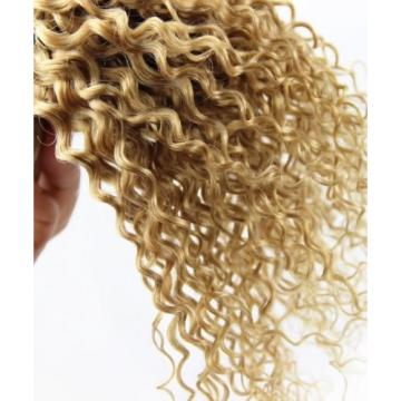 Luxury Peruvian Honey Blonde #27 Kinky Deep Curly Virgin Human Hair Extensions
