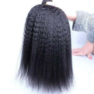 Luxury Kinky Straight Peruvian Virgin Human Hair Extensions 7A Weave Weft