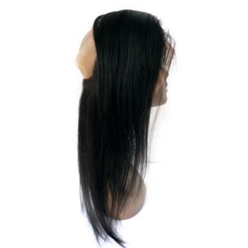 360 Lace Frontal Closure With 3 Bundles Peruvian Virgin Hair Straight 360 Band