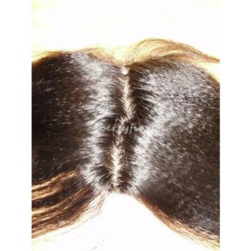 12-inch Virgin Peruvian Kinky Straight Human Hair Silk Top Frontal Closure