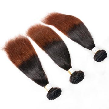 8A Peruvian Virgin Hair Weft Ombre Hair Straight 3Bundles/300g Two Tone #1b/27
