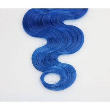 Luxury Dark Roots Blue Body Wave Peruvian Ombre Virgin Human Hair Extensions