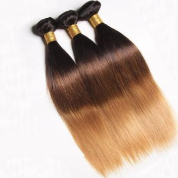 Luxury Straight Peruvian Blonde #1B/4/27 Ombre Virgin Human Hair Extensions