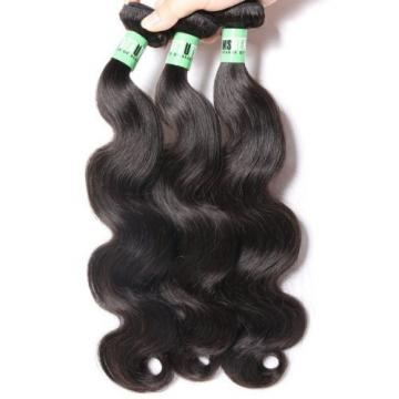 Msbeauty 7A Peruvian Hair 3 Bundles Body Wave Virgin Human Hair Weave 10 12 14