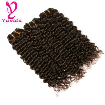 7A Peruvian Virgin Deep Wave Curly Unprocessed Human Hair Weft 3 Bundles 300g