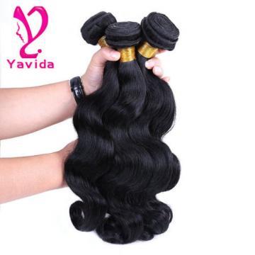 7A Virgin Peruvian/Indian Body Wave Human Hair Weft Extensions 3 Bundles/300g